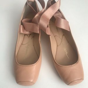 Jessica Simpson pink ballet flat